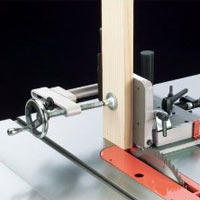 Shop Fox Tenoning Jig on table saw view 1
