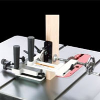 Shop Fox Tenoning Jig on table saw view 2