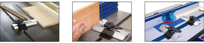 Thin Rip Table Saw Jig can be used on table saws, bandsaws and router tables.