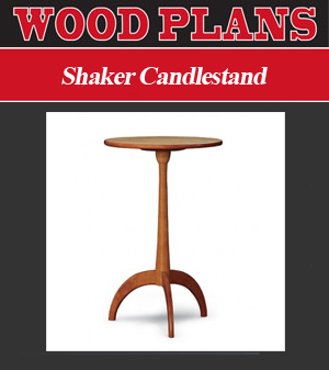 Shaker Candlestand Woodworking Plan