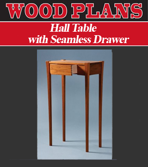 Hall Table with Seamless Drawer