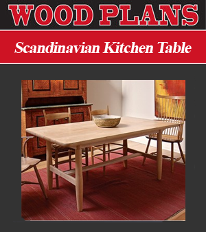 Scandinavian Kitchen Table Paper Plan