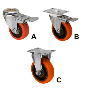 all 3 style casters 3' and 4""