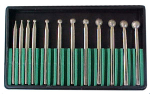 12 Piece Diamond Ball Bur Set