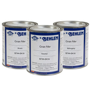 Water Base Grain Filler Brown - 1 Quart B744-0026