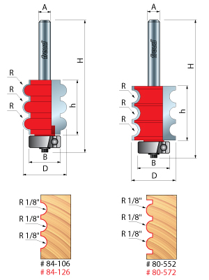 freuds beading fluting router bits