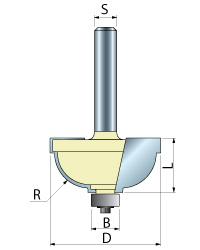 Stepped Cove Router Bit