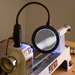 LED Magnifying Work Light w/Dual Power and Dual Mount