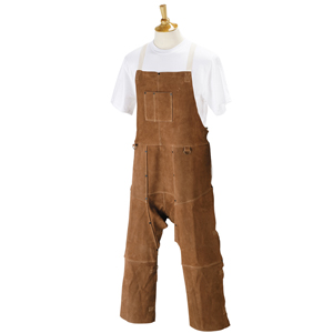"42"" Wood Turners Leather Split Leg Bib Apron"