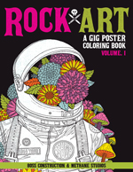 Rock Art: A Gig Poster Coloring Book