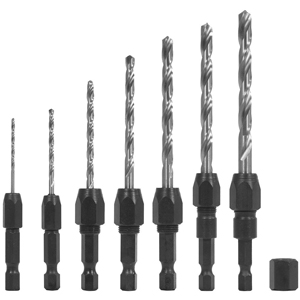 7 Piece Quick-Change Drill Bit Set