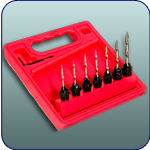 22 Piece Taper Drill Bit Set