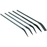 5 Piece Large Curved Needle Nose File Set