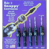 Snappy 5 Piece Gold Screw Countersink Set