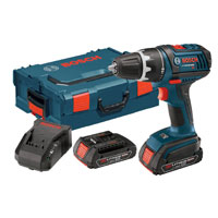 Bosch DDS181-02L 18-Volt Drill/Driver with 2 Slim Pack HC Batteries, Charger and L-BOXX-2