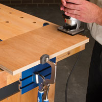 Endless applications, choose the way you work - Quickly remove or reposition your Bench Klamp™ - Fast and easy clamping, just squeeze and release - Strong and secure hold - Up to 350lbs of pressure to handle most anything at it - Easy installation on most workbench surfaces.