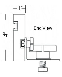 line drawings of Basic Router Table Fence Kit