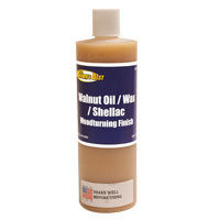 Ron Brown's Best Walnut Oil Wax - Shellac Finish - 16 oz bottle