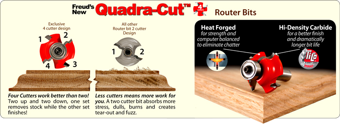 Freud Quadra-Cut Router Bit