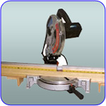 image of miter saw fence