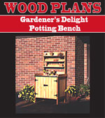 Gardener's Potting Bench Woodworking Plan