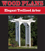 Elegant Trellised Arbor Woodworking Plan