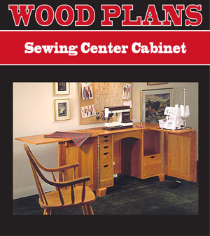 Sewing Center Cabinet Woodworking Plan
