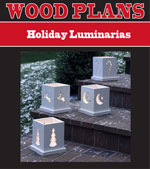 Holiday Luminarias Woodworking Plan