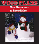 Mrs. Snow & Snowflake Woodworking Plan