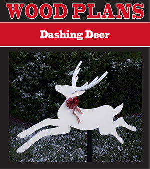 Dashing Deer Woodworking Plans