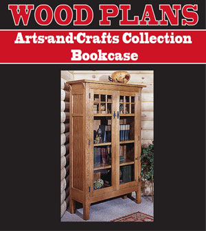 Arts-and-Crafts Bookcase Woodworking Plan