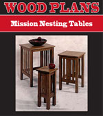 Mission Nesting Tables Woodworking Plan