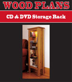 CD & DVD Storage Rack Woodworking Plan