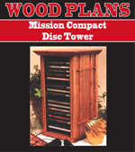 Mission Compact Disc Tower Woodworking Plan