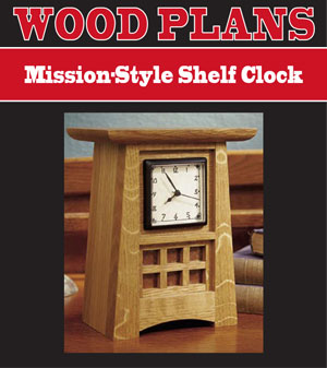 Mission style Shelf Clock Woodworking Plan