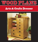 Arts & Crafts Dresser Woodworking Plans