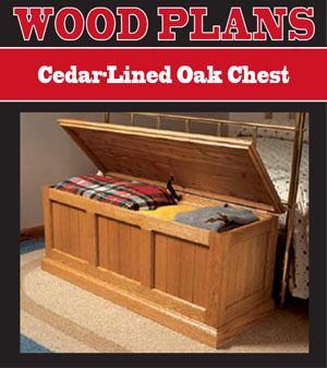 Cedar-Lined Oak Chest Woodworking Plans