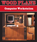 Computer Workstation Woodworking Plans