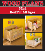 3-In-1 Bed For All Ages Woodworking Plans