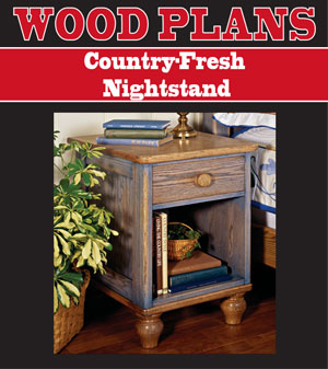 Country-Fresh Nightstand Woodworking Plan