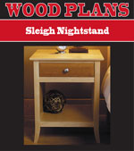 Sleigh Nightstand Woodworking Plan