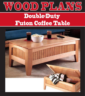Double-Duty Futon Coffee Table Woodworking Plan