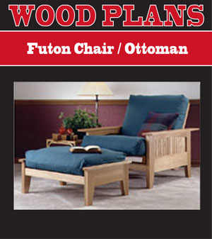 Futon Chair/Ottoman Woodworking Plan