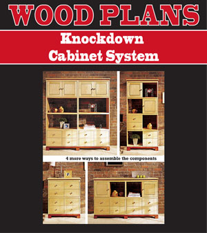 Knockdown Cabinet System Woodworking Plan