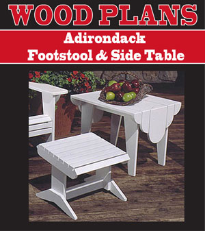 Adirondack Footstool & Side Table