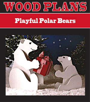 Playful Polar Bears Woodworking Plan