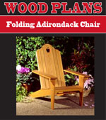 Folding Adirondack Lawn Chair Woodworking Plan