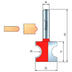 Freud Half Round / Bull Nose Router Bit