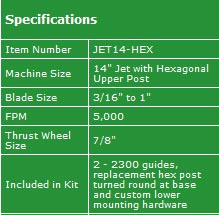 "The Carter Jet 14"" Hex conversion kit"