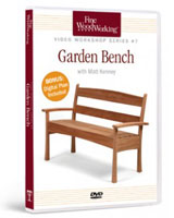 How to Build a Garden Bench DVD